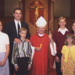 As a student of the Apostolic School in New Hampshire with his family at his Confirmation in 2002.